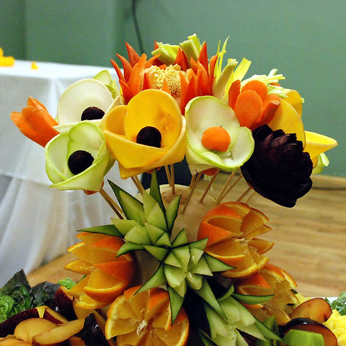 Vegetable floral arrangement