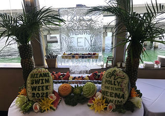 Ice and Fruit Display