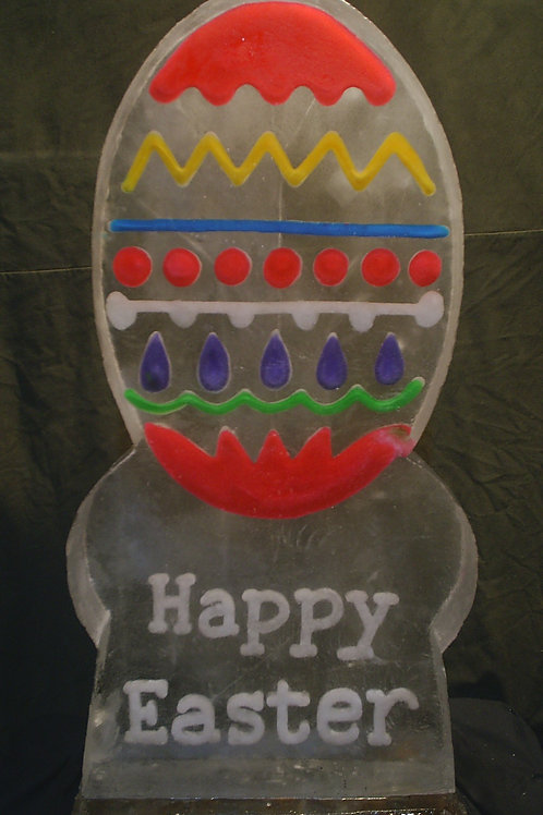 Colored Easter Egg Ice Sculpture
