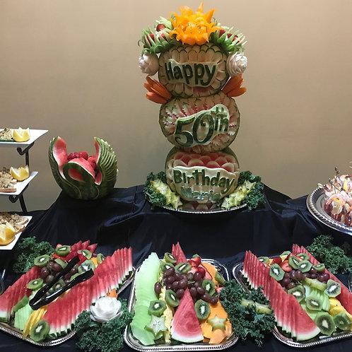 Birthday fruit table