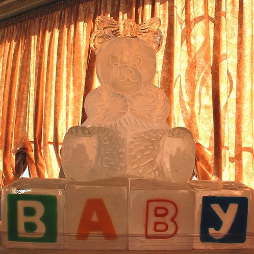 Teddy Bear On Baby Blocks