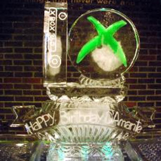 Xbox console with logo and birthday banner