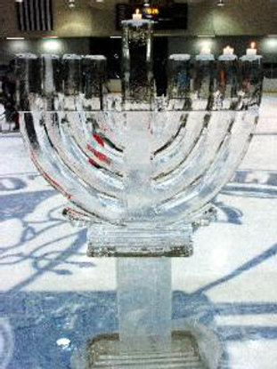 Curved branch ice Menorah
