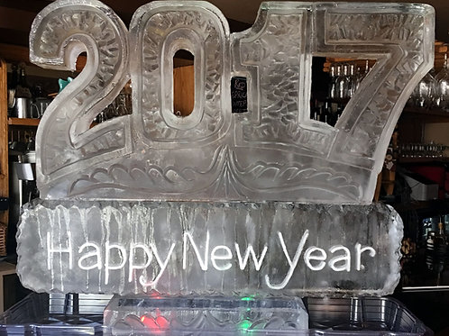 2017 Happy New Year Ice Sculpture