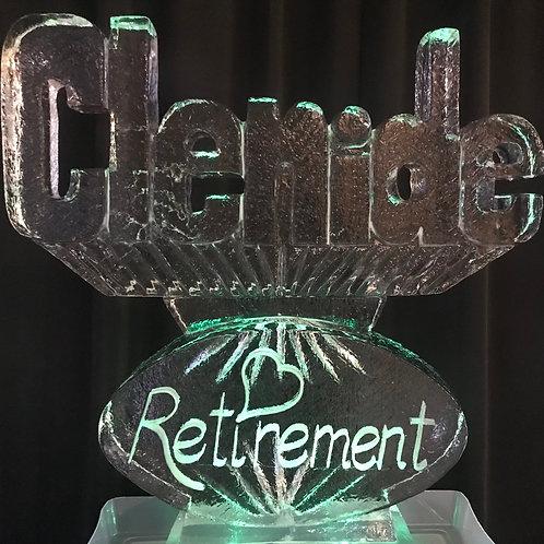 Clenide's Retirement Party Ice Sculpture