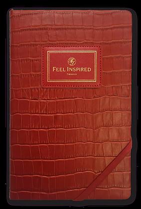 -Classic Successful Notebook-Majestic Red (Croco)