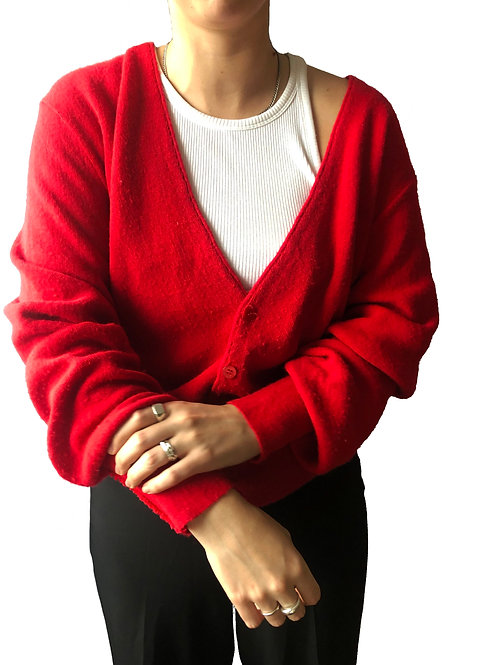 Vintage Red Cardigan