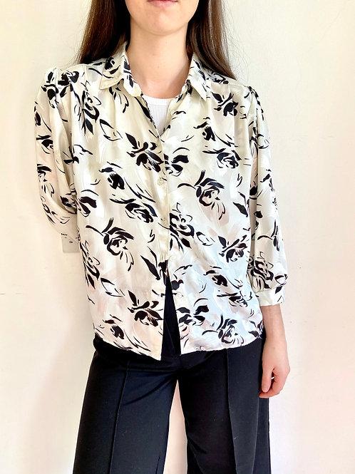 Monochrome Vintage Printed Shirt