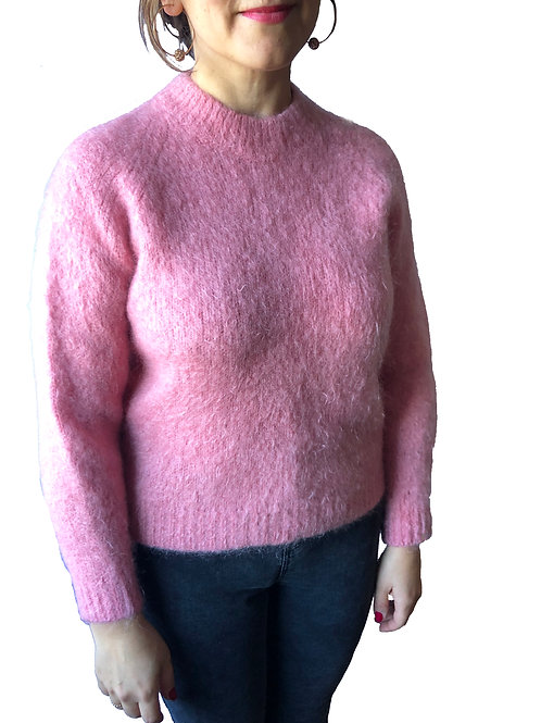 Pink Cosy Knitted Jumper