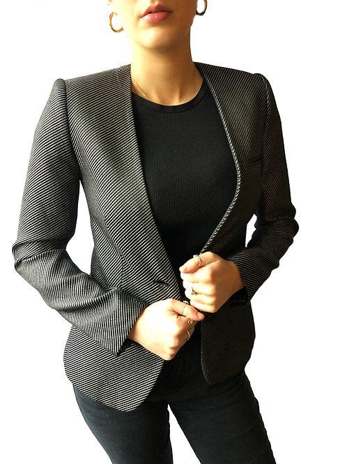 Zadig & Voltaire Metallic Pinstripe Blazer