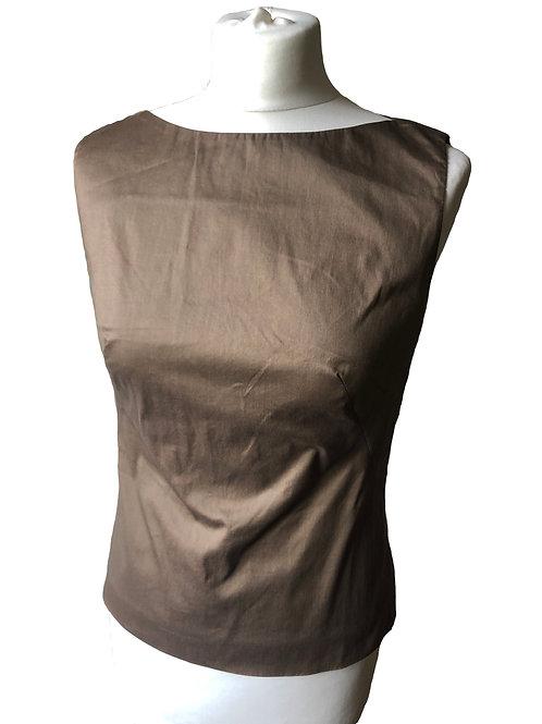 Sleeveless Brown Shirt