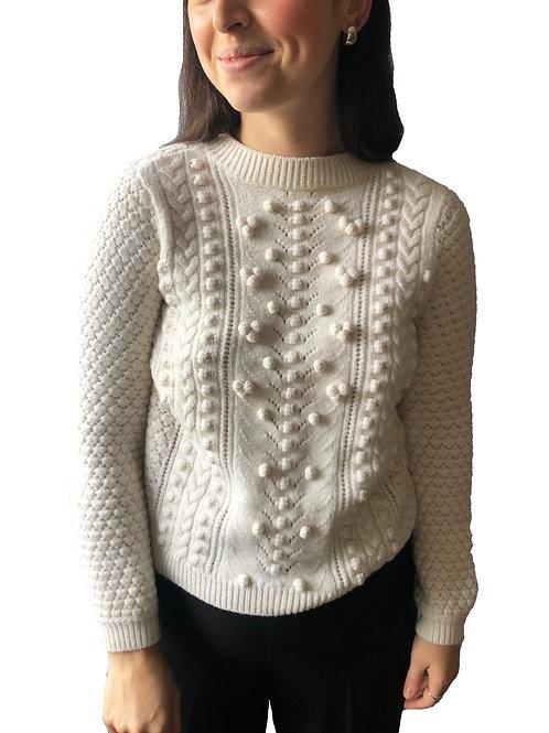 Sezane Knitted Cream Jumper