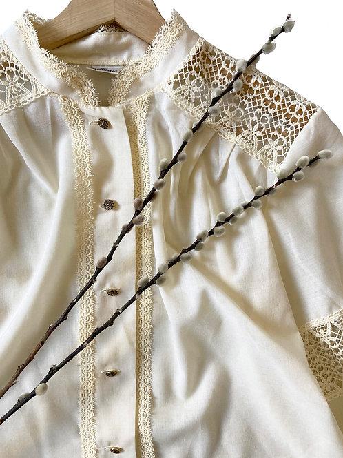 Vintage Lace Button Shirt