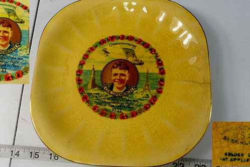 """Col. Lindbergh Commemorative Plate """"Limoges China Co"""""""