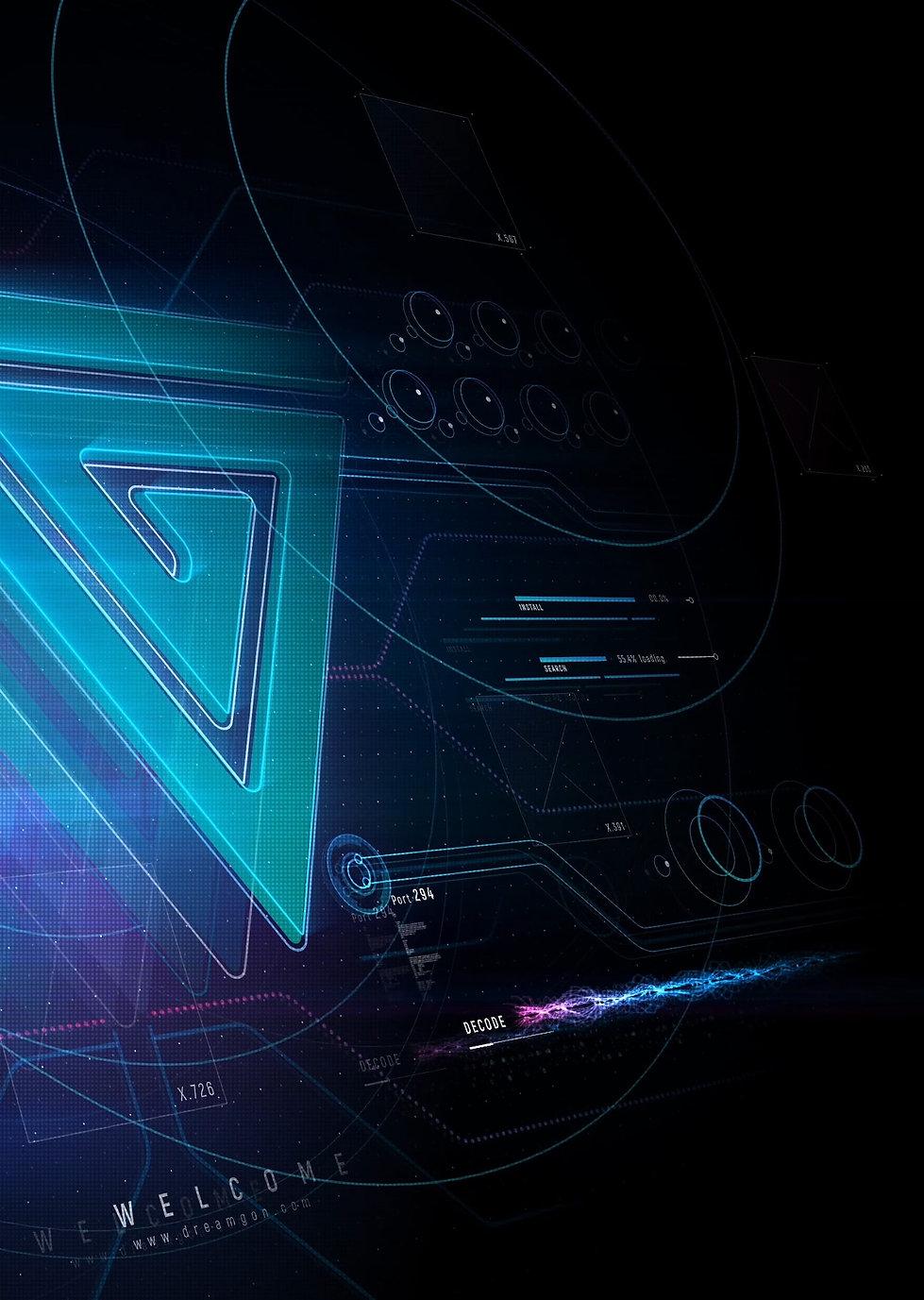 Dreamgon Ventuz Futuristic Sci-Fi Dashboard Realtime Data
