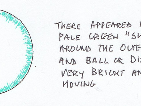 25/11/2017 - Rugby - Green Tinted Glowing Orb Sighting