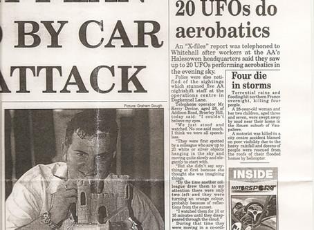 June 1997 – Halesowen – Speherical UFO Formation Sighting