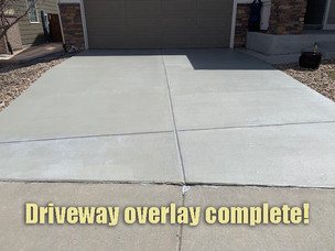 Driveway overlay complete!