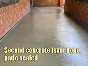 Second payer done; patio sealed