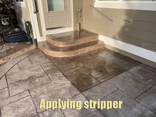 Applying stripper