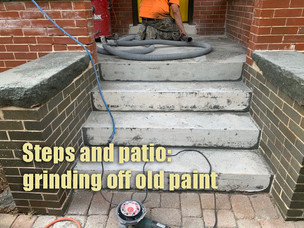 Grinding off old paint