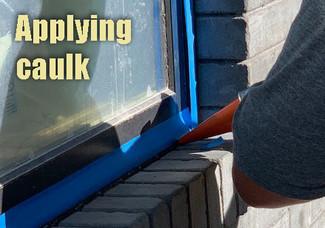 Applying caulk