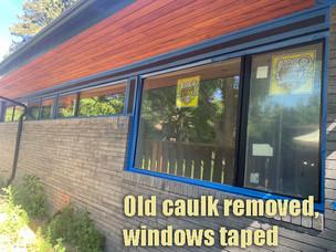 Windows taped