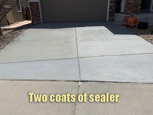 Two coats of sealer