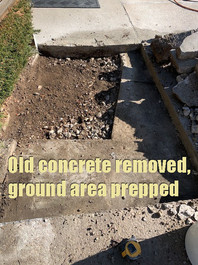 Old concrete removed, ground area prepped