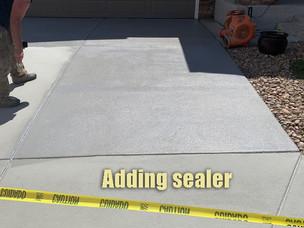 Adding sealer