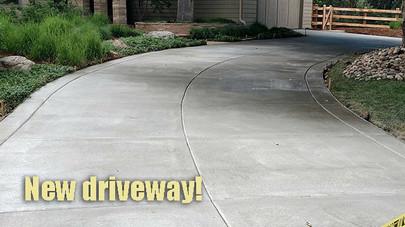 New driveway!