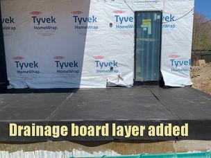 Draining board layer added