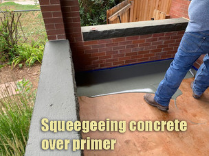 Squeegeeing concrete