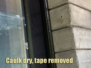 Tape removed