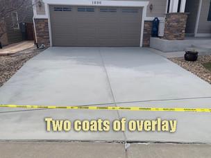 Two coats of overlay