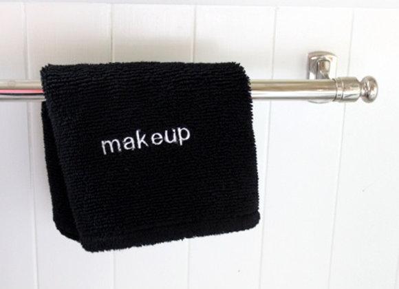 Make Up Remover Washcloth Black