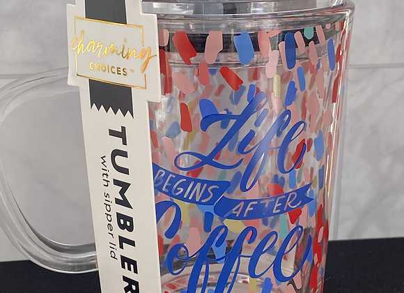 12 OZ Tumbler with sipper lit