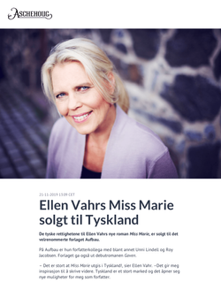 Ellen Vahrs Miss Marie solgt til Tys