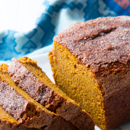 Figure-friendly pumpkin bread