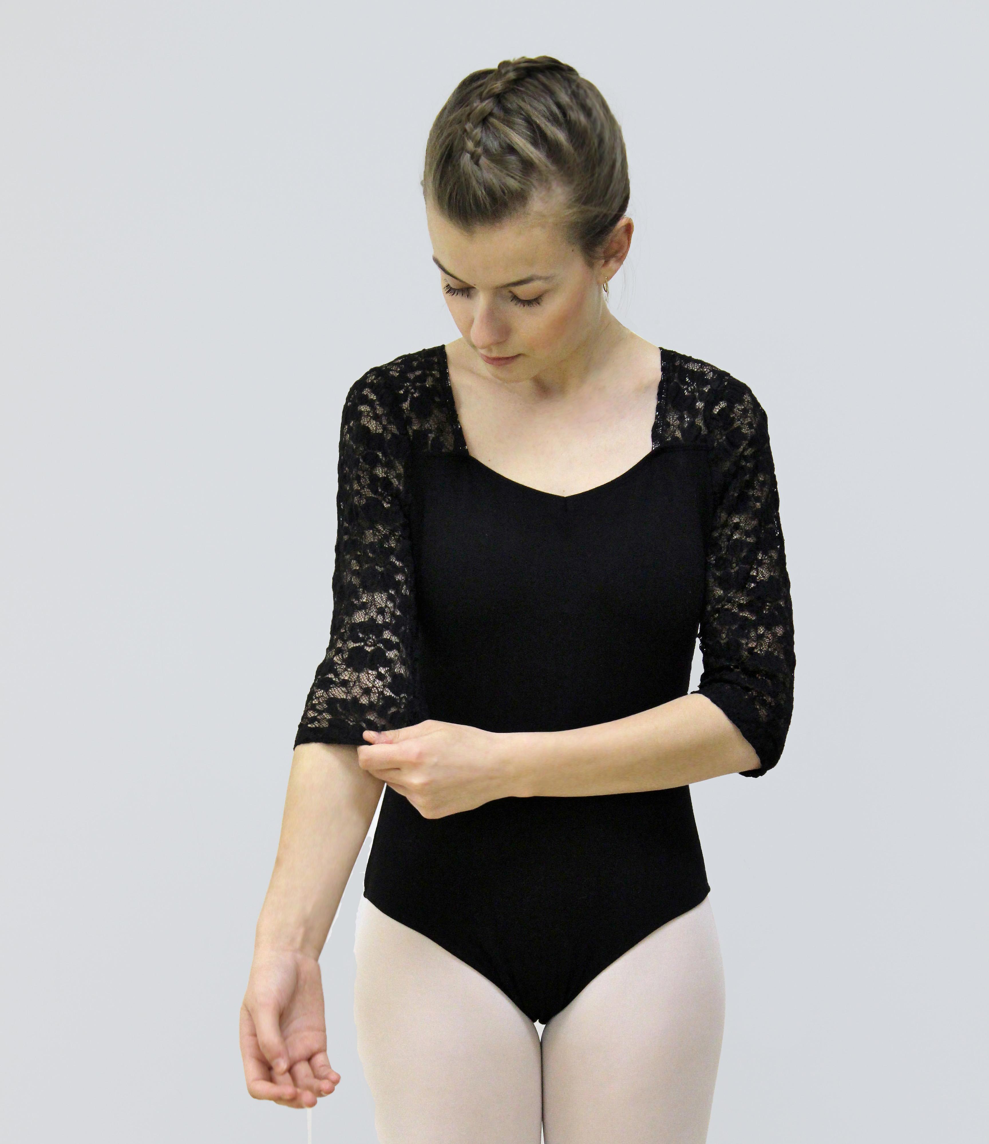 Black floral lace dance leotard Intights Dancewear.jpg
