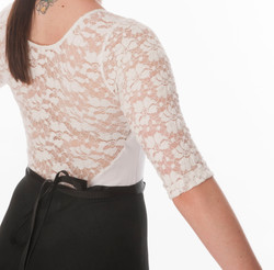 white floral lace leotard intights v