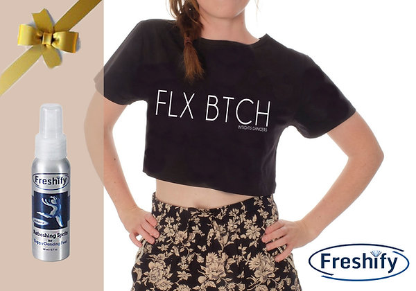 COMBO :  FRESHIFY BOTTLE + FLX BTCH CROP TOP