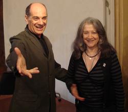 Junto a Martha Argerich