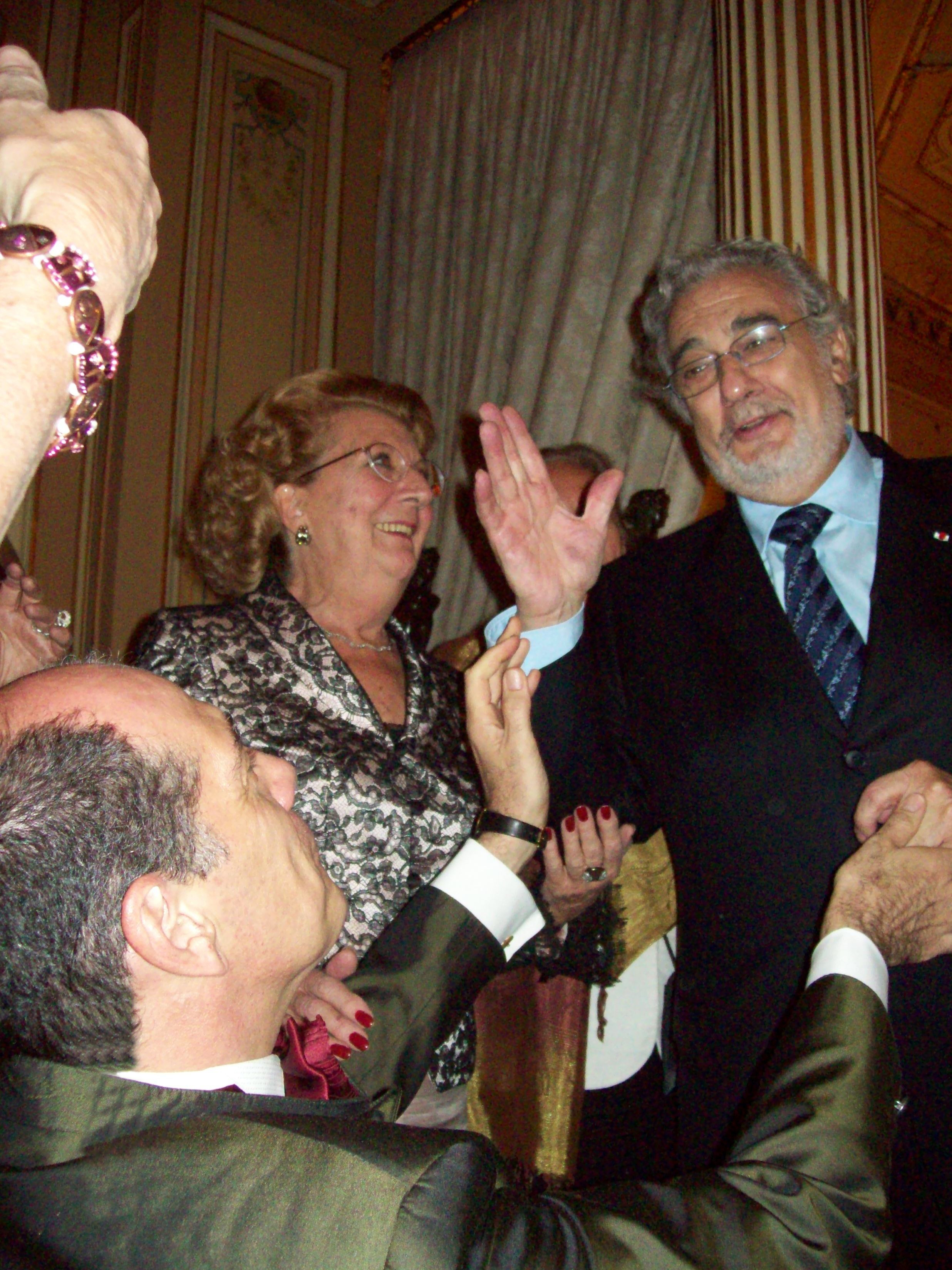 Con Plácido Domingo Paris