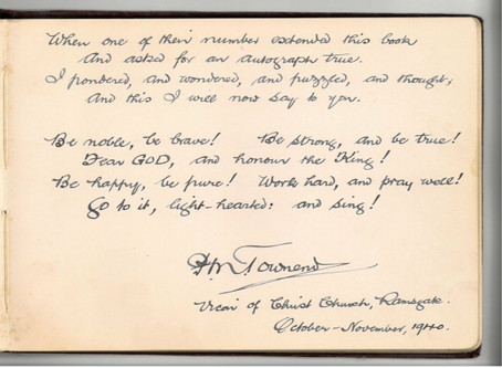 A Poem written by Rev HM Townsend, October 1940