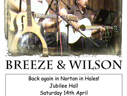 14th Apr @ 7:30PM - Breeze & Wilson Band