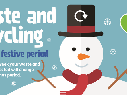 Christmas bin and recycling schedule