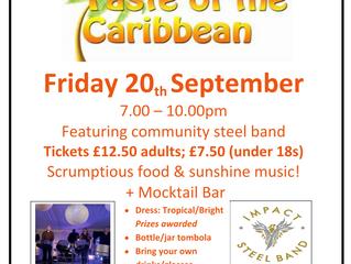 Taste of the Caribbean - 20th Sept @ 7PM