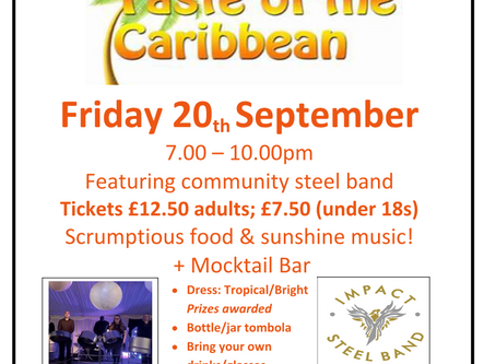 Taste of the Caribbean - 20th Sept @ 7PM