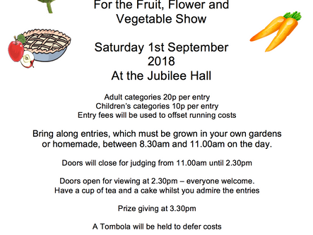 1st Sep - Fruit, Flower & Vegetable show